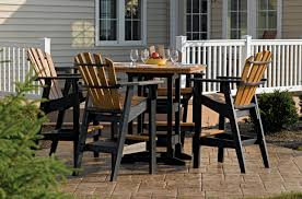 Wood Dining Room Table Sets Outdoor Furniture Breezesta Recycled Poly Backyard Patio