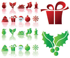 Simple Christmas Icon Vector Material Icon