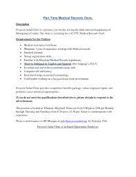 Cover Letter Medical Records Resume Sample Director Of Medical