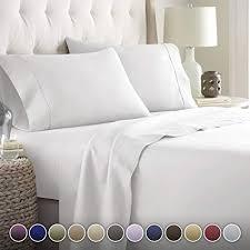 White bed sheets Pinterest Hc Collection Bed Sheets Set Hotel Luxury Platinum Collection 1800 Series Bedding Set Deep Amazoncom Amazoncom Hc Collection Bed Sheets Set Hotel Luxury Platinum