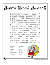Printable Christmas Word Puzzles Santa Word Search – Classroom Jr ...