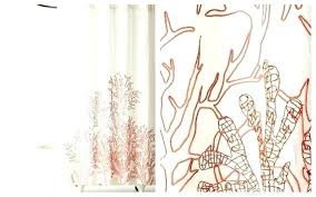 c shower curtains colored best with regard to salmon curtain inspirations grey and insp grant aqua to salmon shower curtain grey