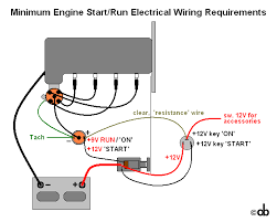 bare bones engine wiring diagram about the minimum engine start run wiring requirements and seeing that a picture still appears to be worth a thousand words i ve illustrated it in