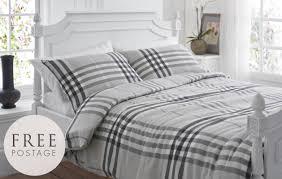 barra brushed cotton flannelette check bedding