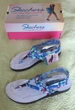 skechers yoga mat sandals. new skechers yoga mat sandals ladies sz 11 tie dye meditation reflection blue sandals