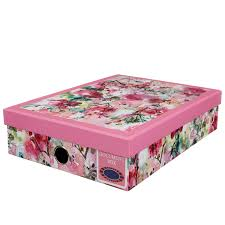 Document Boxes Decorative A100 Document Box Floral Stationery BM 9