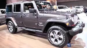 2018 jeep wrangler sahara exterior and interior walkaround 2018 detroit auto show you