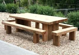 wood outdoor table wooden tables garden dining sets a pertaining to design 7 pallet round bench