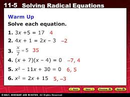 warm up solve each equation 1 3x 5 17 2