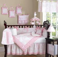 luxury boutique french pink white baby girl crib bedding set and grey sets