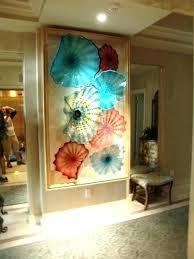 art glass plates hanging