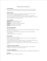 Hr Operations Executive Resume Templates At