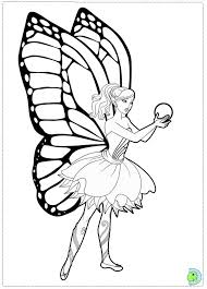 Barbie Fairy Coloring Page Free Download