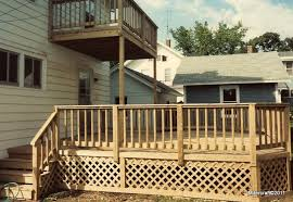 Pressure Treated Deck with Balcony Deck ...