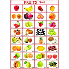 fruits name chart english