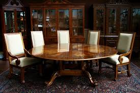 Round Dining Room Table Seats 12 Furniture Pretty Round Dining Room Table And Random Photo