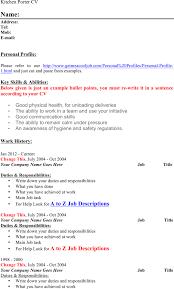 Porter Resume Examples Download Kitchen Porter Resume For Free Formtemplate