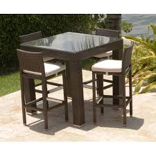 creative of high top wicker patio set brilliant bar height with table prepare 15
