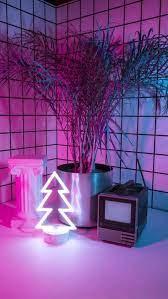 Neon Pink Aesthetic Background ...