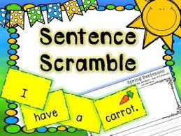Spring Literacy Center Sentence Scramble Pocket Chart Center