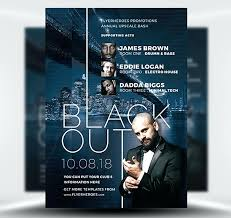 Blackout Nightclub Flyer Template Book Signing Templates Free ...