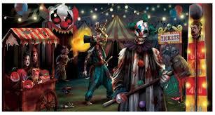 creepy carnival sideshow horizontal banner