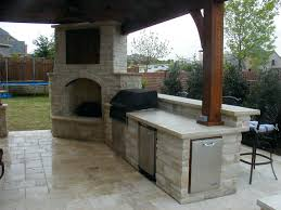 outdoor fireplace plans free outside kitchen with grill and stone corner fireplace under the roof outdoor kitchen grilling stone and kitchens