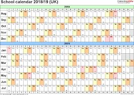 Free Printable School Calendar School Calendars 2018 2019 As Free Printable Word Templates Swifte Us