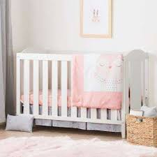 pink nursery furniture. angel pure white and pink crib nursery furniture