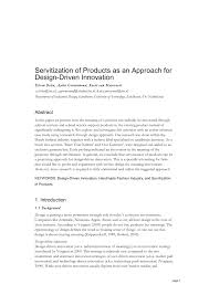 Roberto Verganti Design Driven Innovation Pdf Pdf Servitization Of Products As An Approach For Design