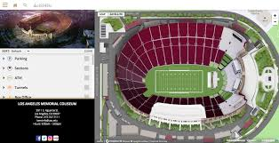 Ppg Paints Seating Chart Interactive La Coliseum Usc Football Seating Chart Www