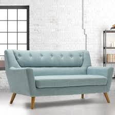 seater sofa in duck egg blue fabric
