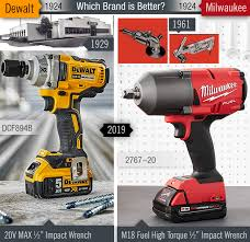 Dewalt Battery Comparison Chart Milwaukee Vs Dewalt Which Power Tool Brand Is Better