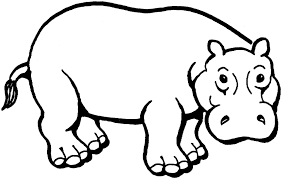 Small Picture African Animal Coloring Pages Hippopotamus Animal Coloring pages