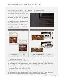 if fibercraft refinishing touch ups maintaining your fibercraft estate and artisan finishes glasscraft s premium fiberglass entry