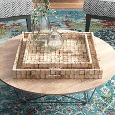 Find the perfect home furnishings at hayneedle, where you can buy online while you explore our room designs and curated looks for tips, ideas & inspiration to help you along the way. Ottoman Coffee Table Square Decorative Trays You Ll Love In 2021 Wayfair