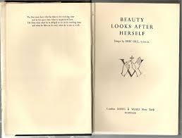 beauty looks after herself essays eric gill first edition beauty looks after herself essays