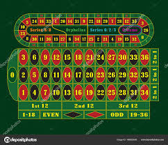 traditional european roulette table raster ilration stock photo