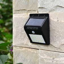 20leds waterproof solar light pir motion sensor solar wall lamp outdoor garden street security solar light
