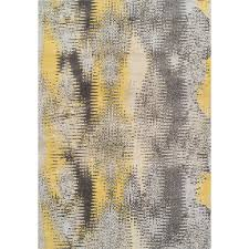 10 x 13 x large yellow and gray area rug modern grays