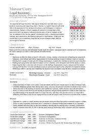 Secretary Resume Templates Delectable Legal Assistant Resume Samples Legal Assistant Resume Samples