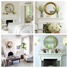 decor above fireplace mantel home decorating ideas