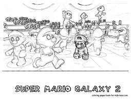 Super Mario Galaxy Coloring Pages