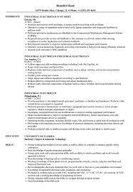 Sample Of Electrician Resumes Industrial Electrician Resume Samples Velvet Jobs