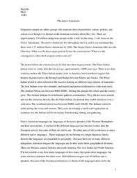 native americans essay no native americans essay