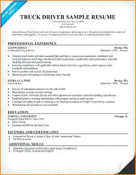 Skills For Truck Driver Resume Gallery Of Driver Resumes Boat