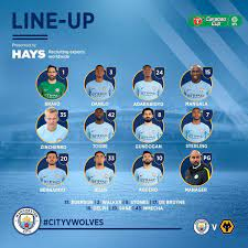 Manchester City lineup against Wolves : MCFC