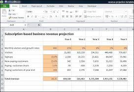 Subscription Based Business Revenue Projection Plan