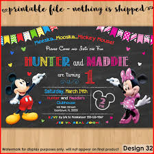 mickey and minnie invitation templates beautiful mickey and minnie birthday invitations stock of birthday