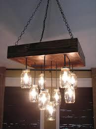 diy pallet and mason jars chandelier